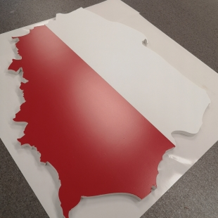 MDF board with adhesive foil printing